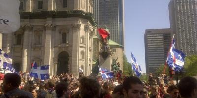 Grève étudiante août 2012